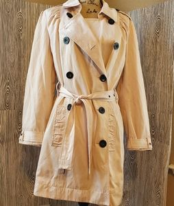 APT.9 pink belted double breasted peacoat